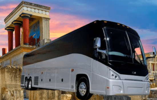 Guided bus tours on Crete image