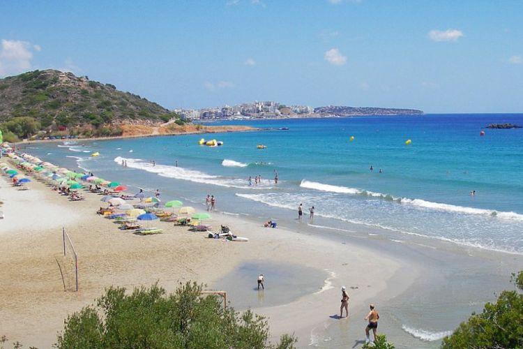 Almyros sand strand